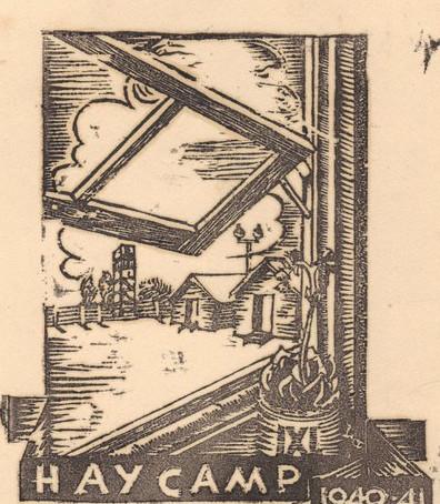 Is the Hay Camp 8 Souvenir Woodcut Print by Ludwig Hirschfeld-Mack or Alfred Landauer?