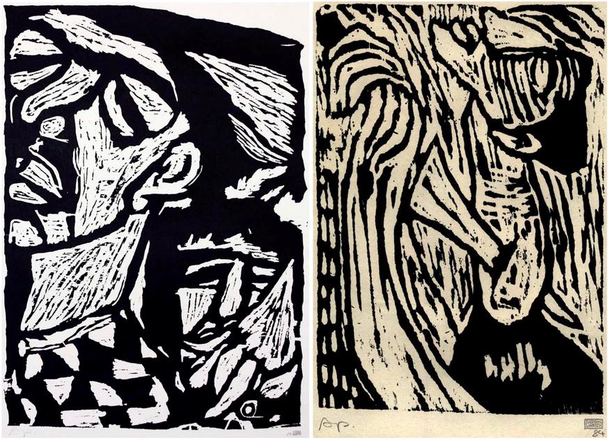 Sadik Kwaish Alfraji, etchings, 1984