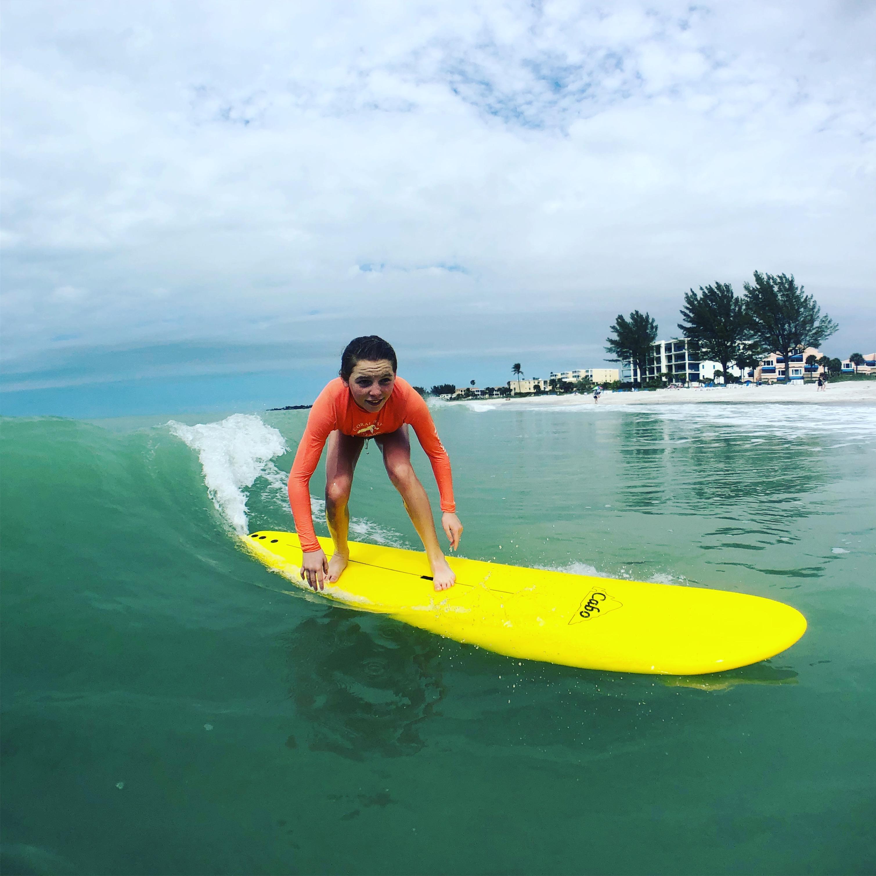 Surfing Long Boat Key