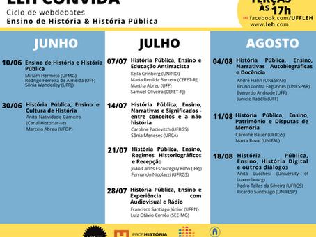 LEH Convida: Ciclo de Webdebates sobre História Pública & Ensino de História