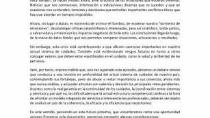 Declaración en favor de un necesario cambio en el modelo de cuidados de larga duración en España - A