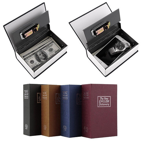 Dictionary Safe Box Popular Secret Book Money Hidden Secret Security Safe Lock C