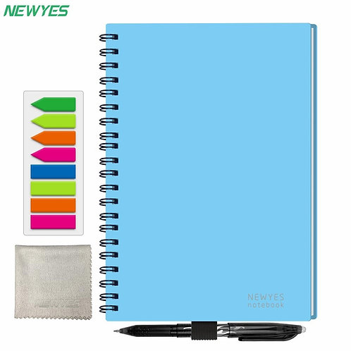 NEWYES A5 Smart Reusable Notebook Erasable Wirebound Notebook Cloud Storage App