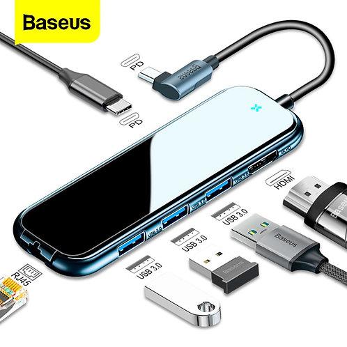 Baseus USB Type C HUB to HDMI RJ45 Lan Multi USB 3.0 PD Adapter USB-C HUB for Ma