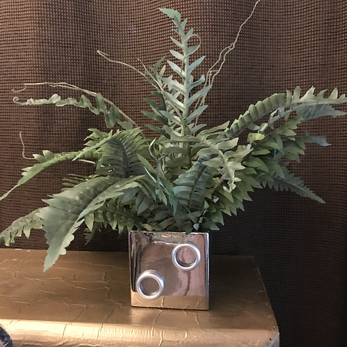 Fern in Metallic Vase