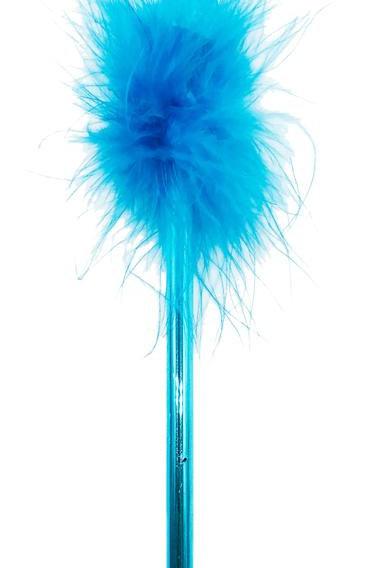 Boa Feather Pen - Blue