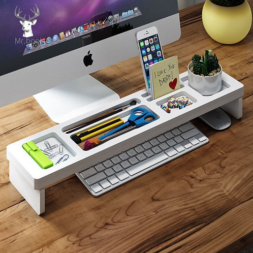 Desk Organizer Stationery Pen Holder Home Office Keyboard Cover Desktop Storage