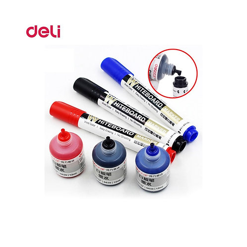 Deli Erasable Whiteboard Marker Pen 1pcs Whiteboard + 1 Bottle Ink Set Office Dr