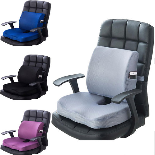 Chair Cushion 2pcs Office Car Memory Foam Pillow Set Spine Coccyx Protect  Seat