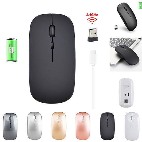 2.4G Wireless Mouse Rechargeable Charging Ultra-Thin Silent Mouse Mute Office No