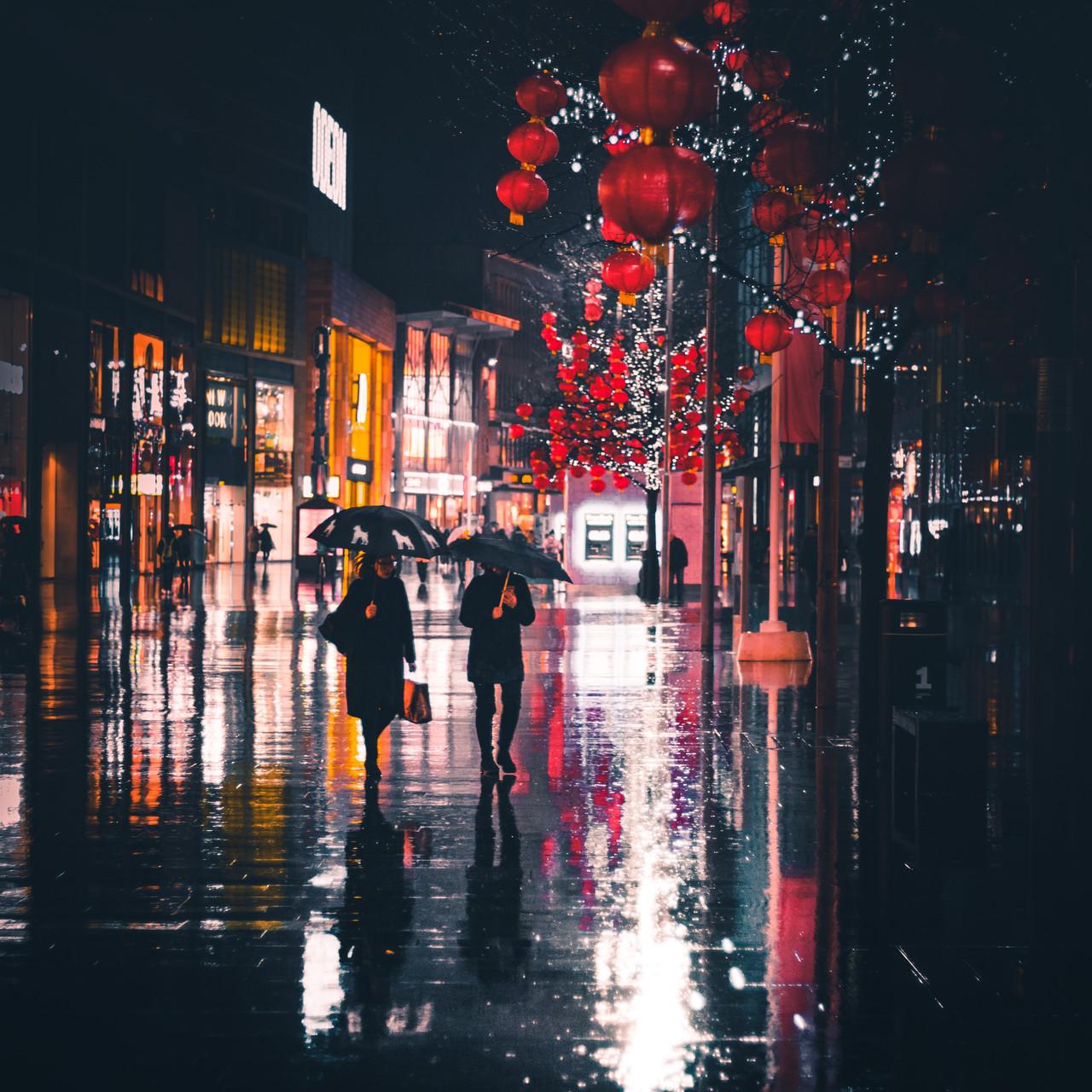 Reflectie regen 1