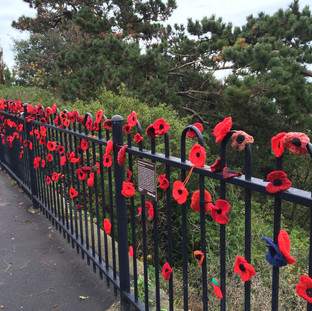 Public Realm: Judges' Special Mention: Road of Remembrance War Poppies, Folkestone