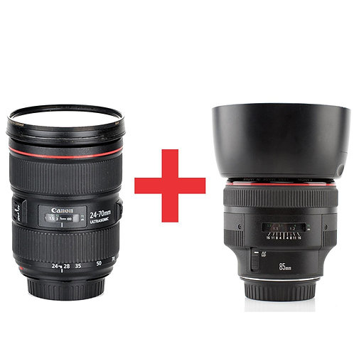 Canon EF 24-70mm f/2.8L II + 85mm f/1.2L II USM Bundle