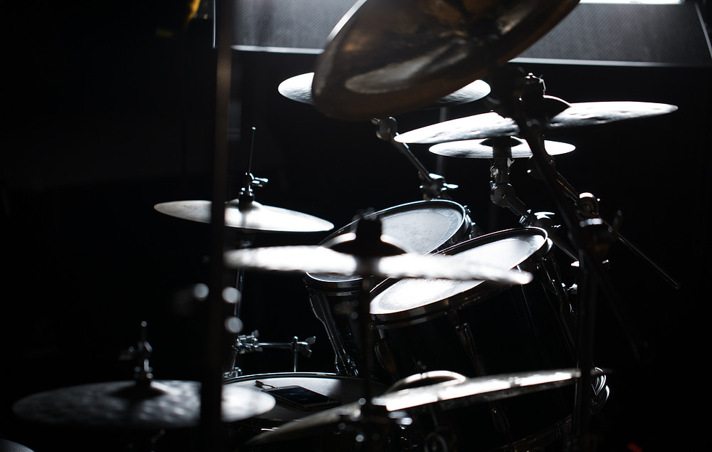 Drum lighting set-up at LensLockers Photography Studio.