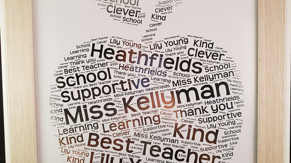 Teacher Word art in foil print