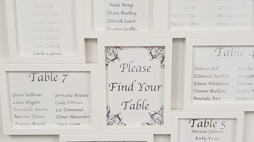 Find your table wedding table plan