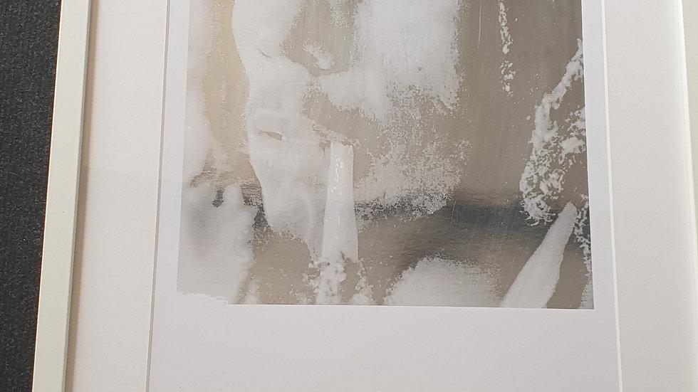 Bob Marley silver foiled print In frame