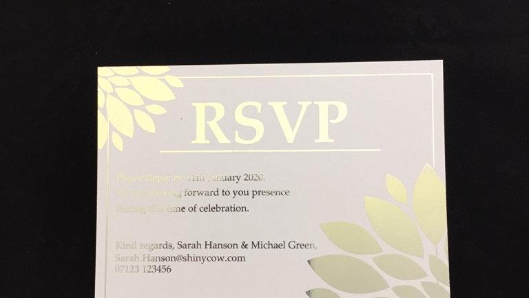 RSVP wedding stationery cards