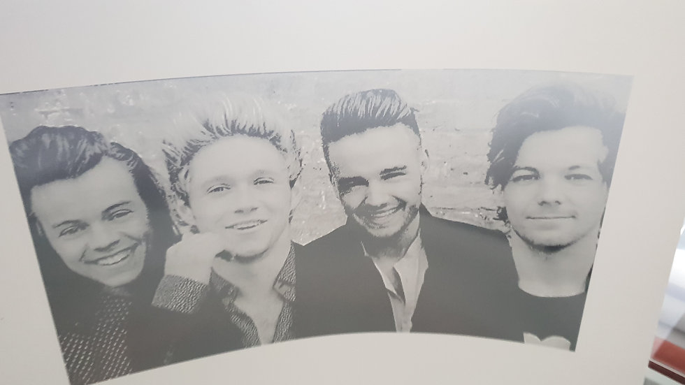 One direction foiled print A3