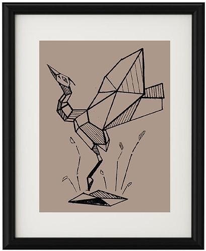 Серия гравюр «Птицы» автор Дарья Шабеко