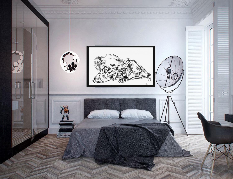 Рисунок в интерьере