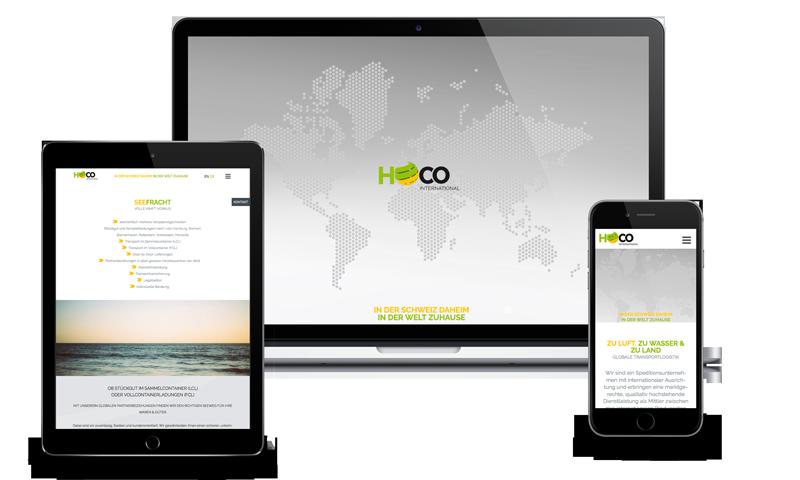 Webdesign Hoco International Sankt Gallen