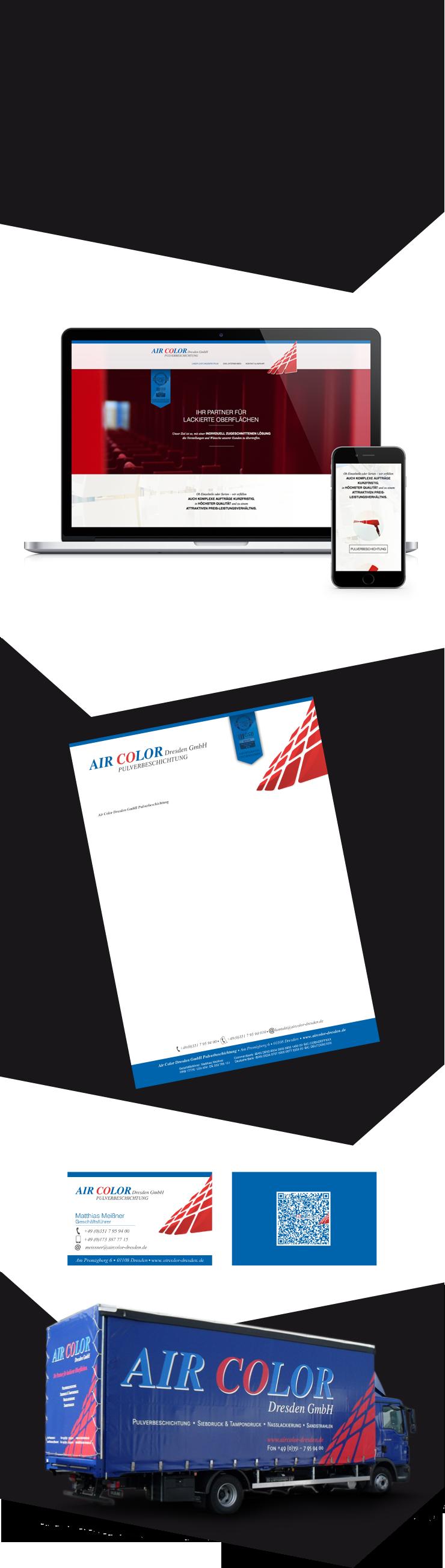 Webdesign Corporate Design Air Color Dresden