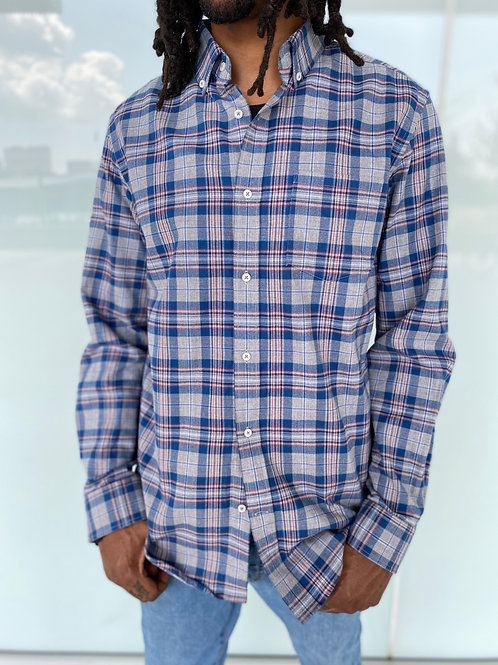 Long Sleeve Button- Down Flannel