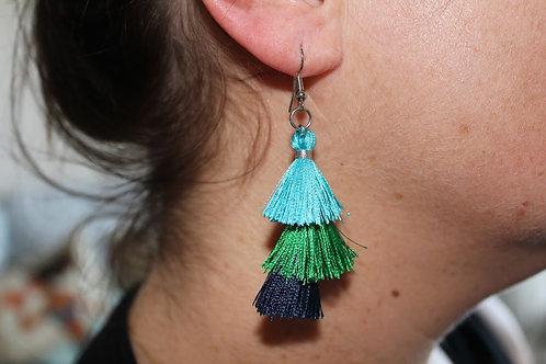 Triple Tassel Earrings