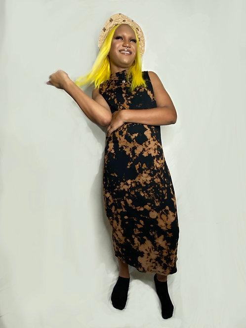 Tie-Dye Mockneck Dress