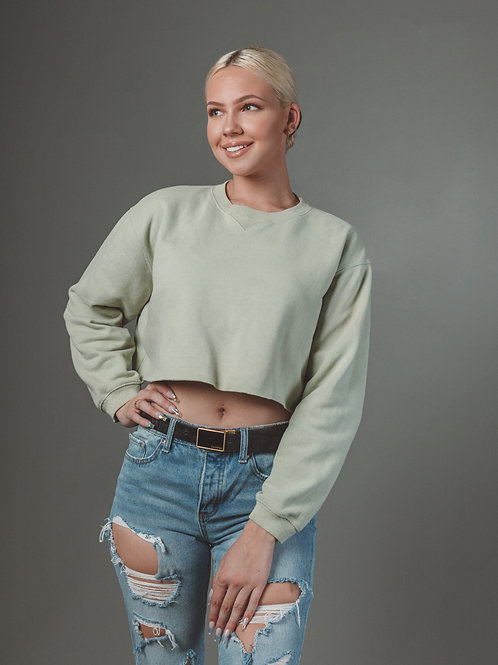 Minty Cropped Crew-neck