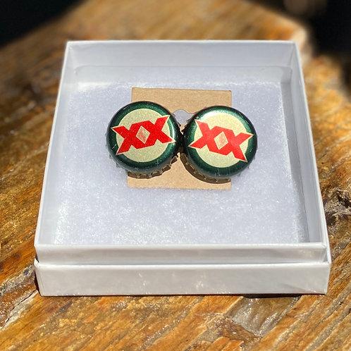 Dos Equis Stud Earrings