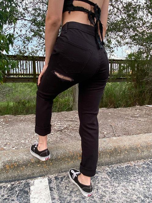 Black Bum Rip Levi Jeans
