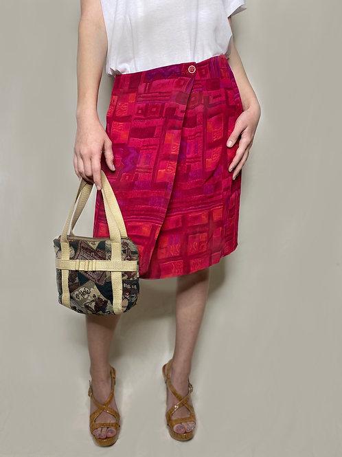 Vintage Front Wrap Pencil Skirt
