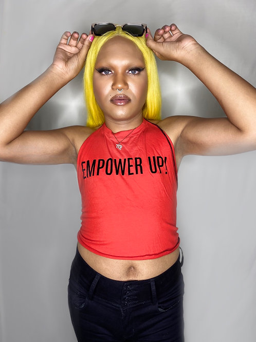 Upcycled Empower Up! Halter Top