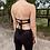 Thumbnail: Black Denim Pocket Criss-Cross Halter Top