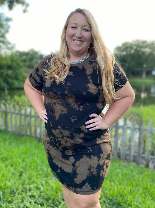 Reverse Tie-Dye T-shirt Dress