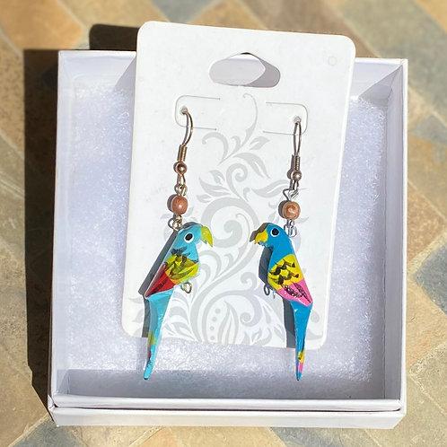 Blue Birdie Earrings