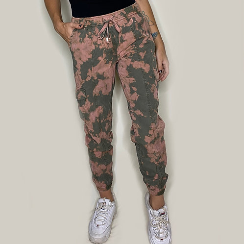 Acid Wash Cargo Pants