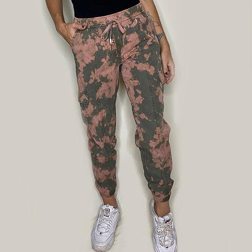 Acid Wash Cargo Pants