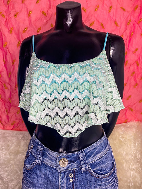 Teal Lacey Bralette Top *Deadstock*