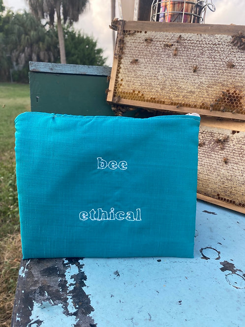 Bee Ethical Upcycled Zipper Pouch