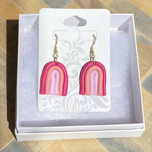 Pink Rainbow Earrings
