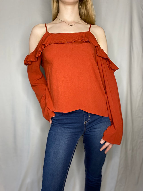 Pre-loved Mossimo Long Sleeve Off The Shoulder Top