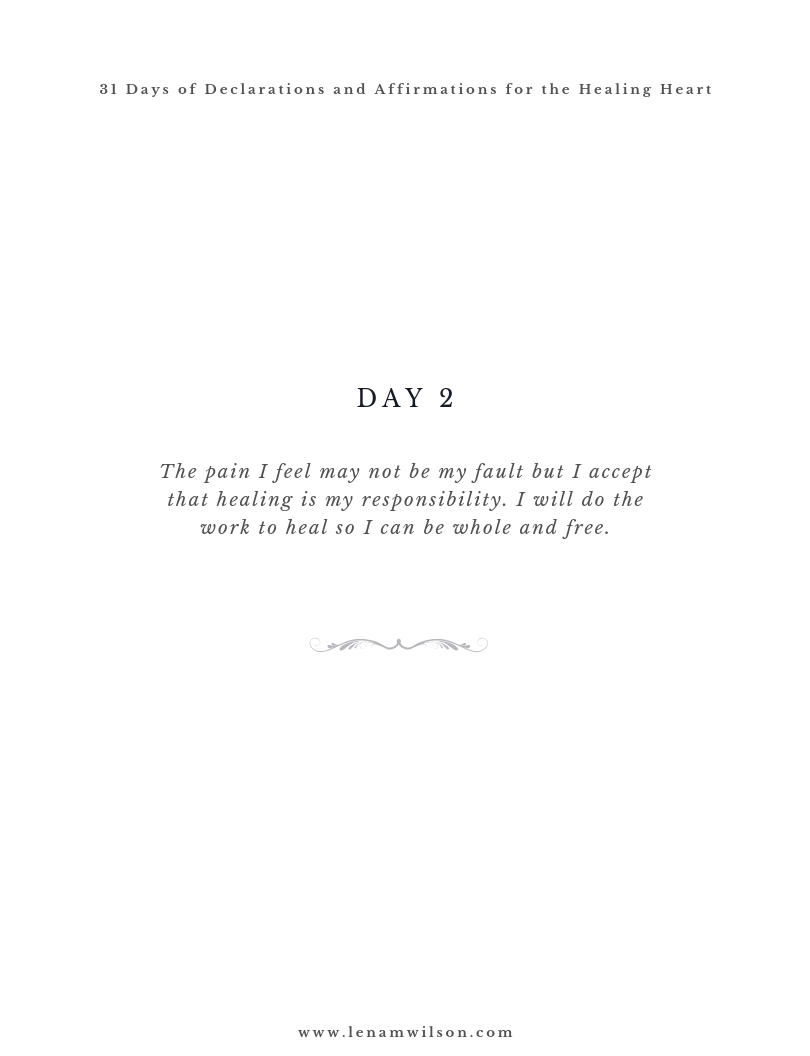 31 Day Affirmations for the Healing Hear