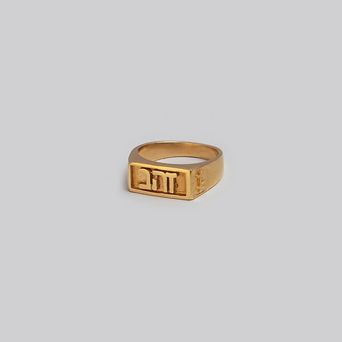 טבעת חותם זהב | זהב
