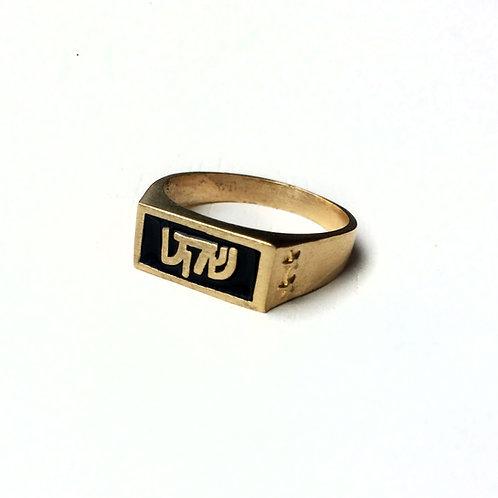 טבעת חותם שחורה | שקט