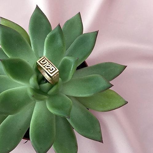 טבעת חותם זהב | פשוט