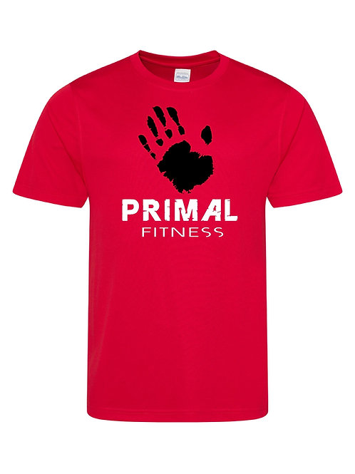 Red Primal Fitness training T-shirt