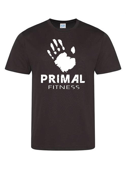 Black Primal Fitness training T-shirt